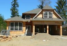 New House. A house under construction Stock Photos