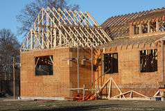 New House. A new house under construction Stock Photos