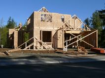 New House. A new house under construction Stock Photography