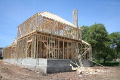 New House. A new house under construction Royalty Free Stock Photos