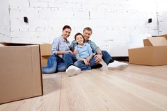 In new house Royalty Free Stock Photos