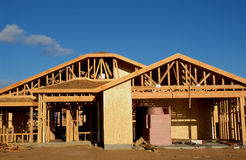 New house. Under construction stock image
