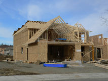 New House. House under construction Stock Image