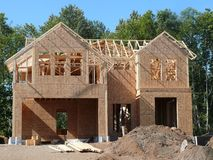 New House. A new house under construction Stock Photo