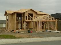 New House. House under construction stock photo