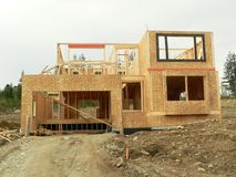 New house. A house under construction royalty free stock photo