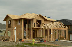 New House. A house under construction Royalty Free Stock Photography