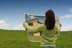 New house. Buying a new house, concept royalty free stock images