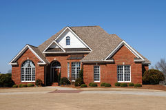 New House. A Large New Luxury Home Stock Photography