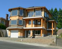 New House. A house under construction stock photography