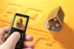 Free New House And Mobile Phone. Stock Images - 9287354