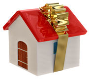 New house as a gift Royalty Free Stock Photography