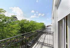 New house balcony Royalty Free Stock Images