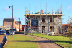 New house being built. Royalty Free Stock Photo