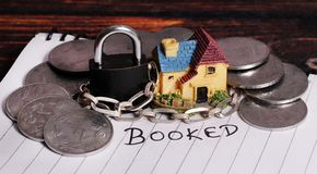 New house booked stock photo
