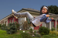 New house and child Royalty Free Stock Photos