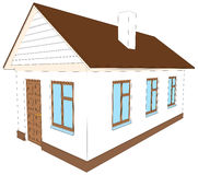 New house with chimney. Vector illustration Royalty Free Stock Photo
