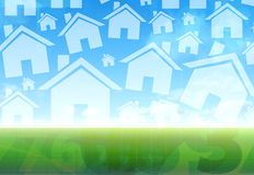 New house concept. New house blue and green concept Royalty Free Stock Photos