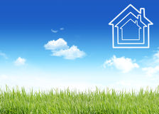 New House, Conceptual Image Stock Image