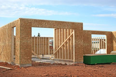 New House Construction  Royalty Free Stock Photos