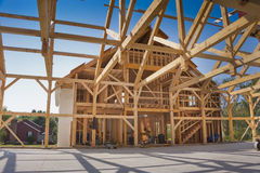 New House Construction. New house post and beam construction Stock Images