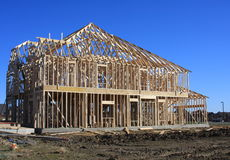 New house construction Royalty Free Stock Photography