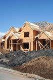 New house construction. New upscale executive home under construction Stock Images