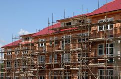 New house construction. Houses being constructed Royalty Free Stock Images