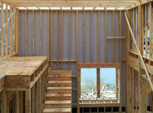 New house construction background. Interior of a new house construction background Royalty Free Stock Images