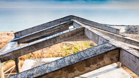 New house construction building cement roof Royalty Free Stock Images