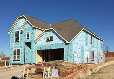 New house construction building Stock Image