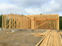 A new house construction in countryside. TX USA Royalty Free Stock Image