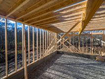 New house construction framing Stock Photos