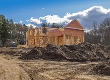 New house construction framing Stock Photography