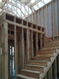 New house construction. Interior of a new house construction, it is stairway Royalty Free Stock Photos
