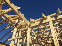 New house construction site background. A New house  construction sites background Stock Photography