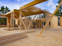 New house construction site Royalty Free Stock Photography