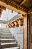 New house construction stairs Stock Photography
