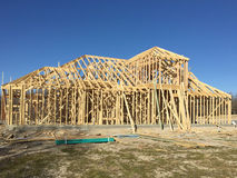 New house construction on suburban Stock Photo