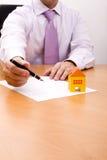 New house contract Stock Photos
