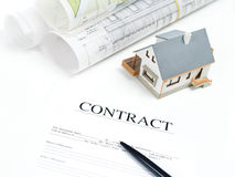 New House contract Stock Image