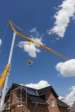 New house with crane Stock Images
