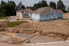 New house development Royalty Free Stock Image