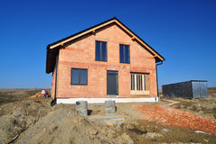 New house development Royalty Free Stock Photography