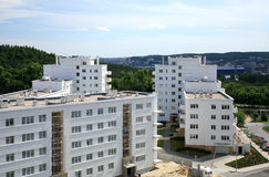 New house estate, Polish architecture. Modern apartment buildings, new housing area in Gdynia, Poland Stock Image