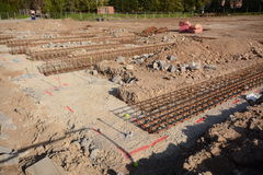 New house footings and groundwork for building construction Stock Images