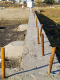 New House Foundation Stock Photography