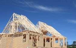 New House Frame Royalty Free Stock Images