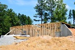 New house frames in Georgia Stock Photo