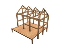 New house framework Royalty Free Stock Photo
